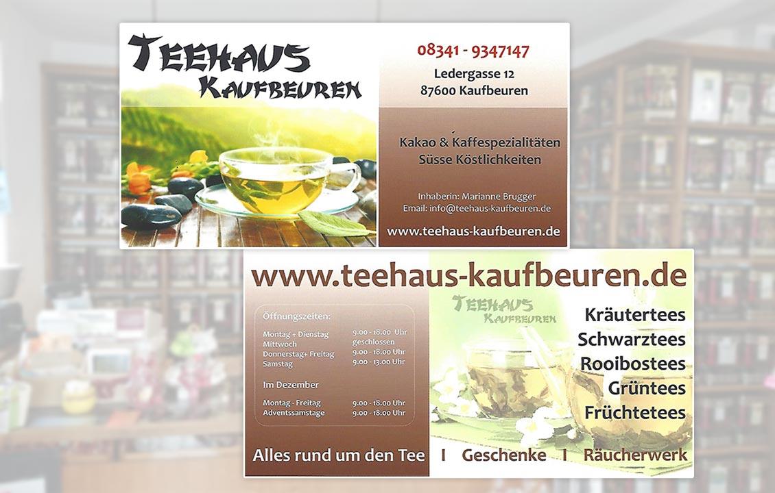 Teehaus Kaufbeuren | Flyer