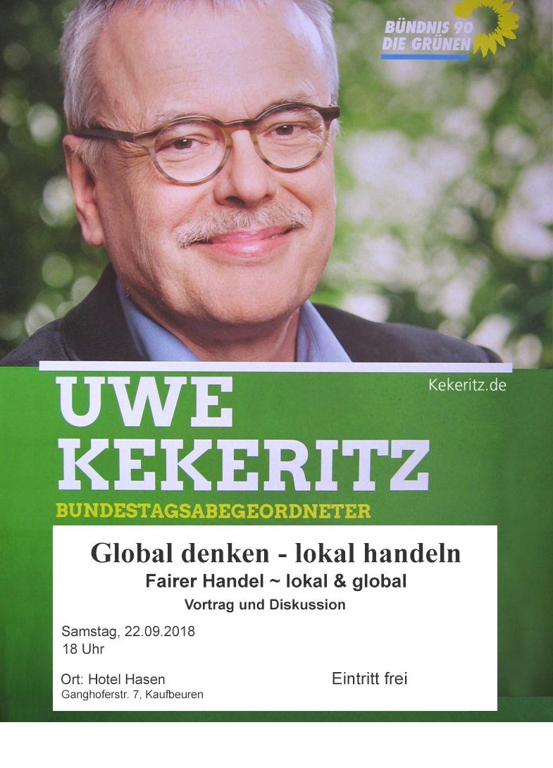 Uwe Kekeritz, 22.09.2018 in Kaufbeuren.
